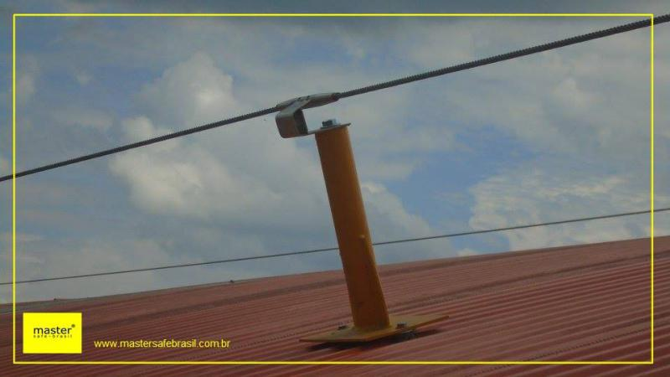 Linha de vida fixa para telhado
